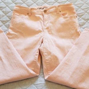 INC ankle length jeans, lite pink